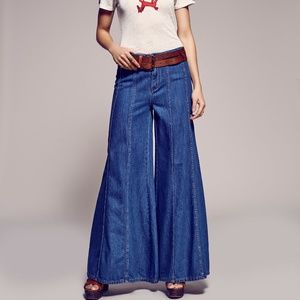 Free People Aiden Gilmore Wide Leg Jeans